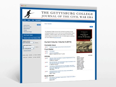 The Gettysburg College Journal of the Civil War Era